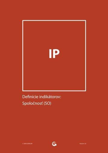 Definície indikátorov: Spoločnosť (SO) - Global Reporting Initiative