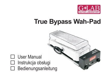 """Instrukcja obsługi podstawki pod """"kaczkę"""" typu True Bypass ... - G LAB"""