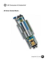451 Series Terminal Blocks - GE Energy