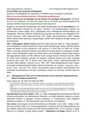 Die Architektur der deutschen Orthographie. Strukturen und ...