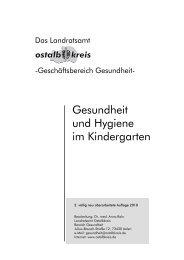 Gesundheit und Hygiene im Kindergarten (Stand ... - Ostalbkreis