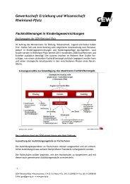 2011-04-04 Fachkraeftemangel Kindertageseinrichtungen - GEW