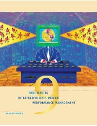Nine Habits of Effective Data-Driven Performance Management