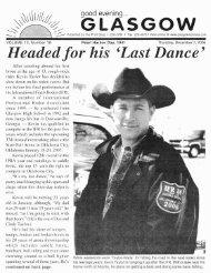 Headed j or his 'Last Dance' - Glasgow Montana