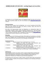 GIC Quick Rules 2013 - German Inline Cup