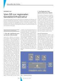 Vom GIS zur regionalen Geodateninfrastruktur - Geomatik Schweiz