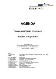 AGENDA - City of Greater Geelong