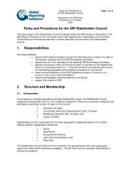 Rules and Procedures for the Stakeholder Council - Global ...