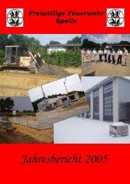 Venhaus Tätigkeitsbericht für die Zeit vom 19.11 ... - Feuerwehr Spelle