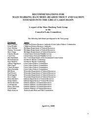 Mass Marking Task Group Report to CLC - Great Lakes Fishery ...
