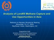 Analysis of Landfill Methane Capture and Use Opportunities in Asia