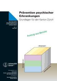 Prävention psychischer Erkrankungen - Institut für Sozial- und ...