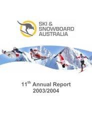 Ski and Snowboard Australia Annual Report 2003-2004 - Australian ...