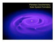 Planetary Geochemistry: Solar System Formation