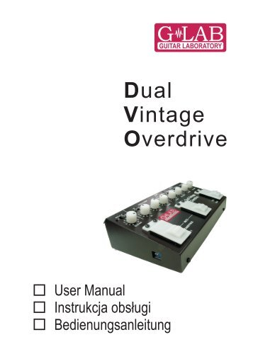 Dual Vintage Overdrive - G LAB