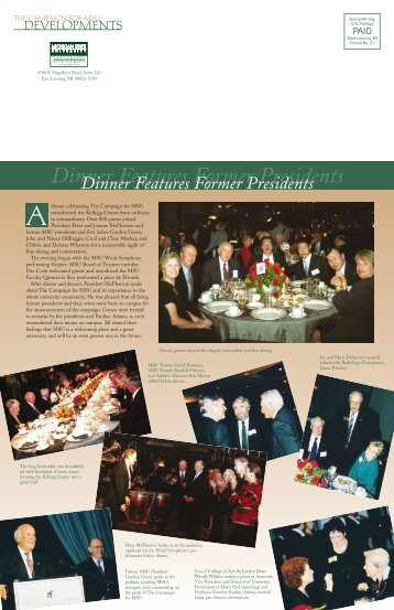 Fall 2002 - Giving to MSU - Michigan State University