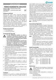 TERMO-HIGROMETRU ANALOGIC - German Electronics
