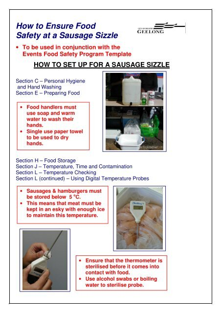How to Ensure Food Safety at a Sausage Sizzle