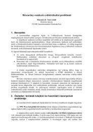 Részarány-rendezés erdőértékelési problémái - NymE GEO portál