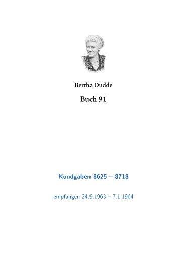 Buch 91 KG. 8625 - 8718 - geistiges licht