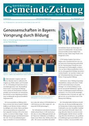 Genossenschaften in Bayern: Vorsprung durch Bildung - Bayerische ...