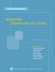 Budget Technology Report - Government Finance Officers Association