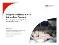Support to Mexico's M2M Agriculture Program - Global Methane ...