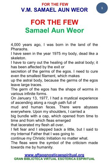 dream yoga pdf samael aun weor free