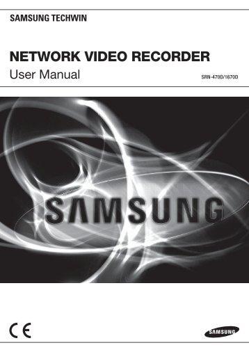 Manual Samsung SRN-1670D 16 Channel Network Video Recorder