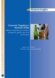Consumer Targeting in Alcoholic Drinks - Business Insights