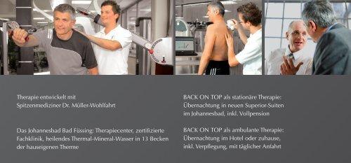 Die PREMIUM Rückenschmerz Therapie BACK ON TOP