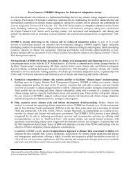 Post-Cancun: GFDRR's Response for Enhanced Adaptation Action