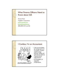 What Finance Officers Need to Know about GIS I Confess, I'm an ...