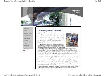 Článok o využívaní skenera v Doprastav, a.s. - Geotech