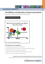 The Offshore and Nearshore Outsourcing Outlook - Business Insights