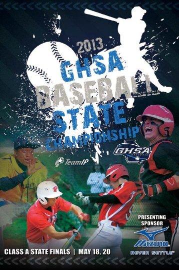 2013 GHSA ClASS A BASeBAll StAte ... - Score Atlanta