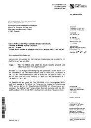 Maßnahmen im Rahmen von EGFL - Finanzierung Imkerei Drs.-Nr.