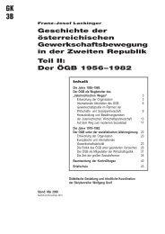 Geschichte der österreichischen Gewerkschaftsbewegung in ... - FSG