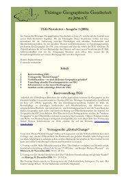 TGG-Newsletter - Ausgabe 1 - Friedrich-Schiller-Universität Jena