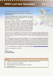 GMES Land User Newsletter Issue 8 - Geoland