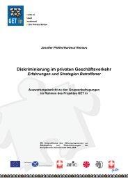 Diskriminierung im privaten Geschäftsverkehr