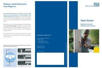 PDF-Broschüre: Winkhaus Tatort Fenster - Genius Fenster und ...