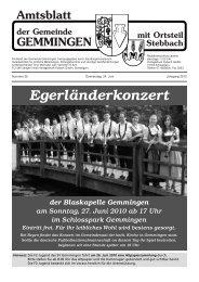 Amtsblatt KW 25 - Gemeinde Gemmingen