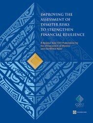 improving the assessment of disaster risks to strengthen ... - GFDRR