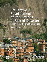 Preventive Resettlement of Populations at Risk of Disaster - GFDRR