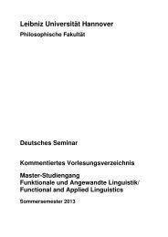 FAL KVV SoSe 2013 - Deutsches Seminar - Leibniz Universität ...