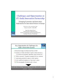 Challenges and Opportunities in EU-India ... - Global Innovation