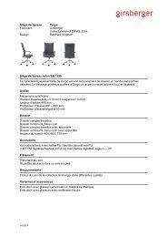Texte appel offre siège de bureau (pdf) - Girsberger