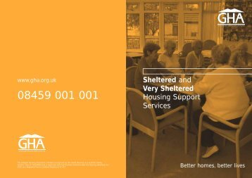 Sheltered and Very Sheltered Housing Support Services