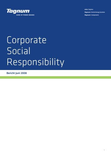 Corporate Social Responsibility Bericht (PDF 725 KB) - Tognum AG